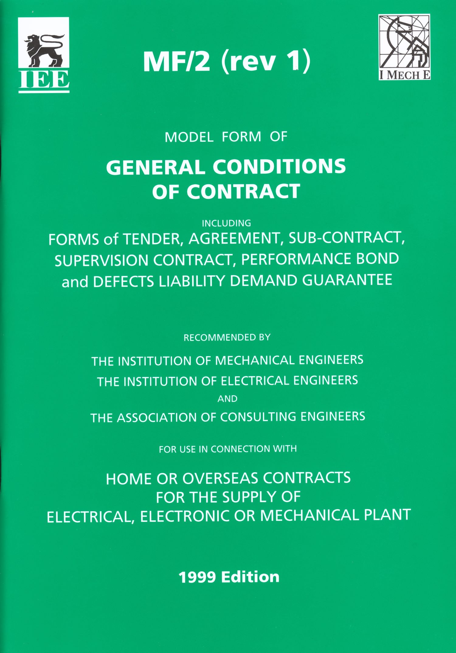 MF/2 Model (Revis 1) Form General Condits Contract